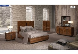 Flavia Modern Italian Bedroom Set in Wood Finish