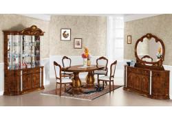 Flavia Pedestal Table Italian Classic Formal Dining Room Set