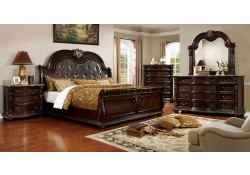 Fromberg Sleigh Bedroom Set in Brown Cherry