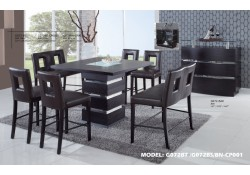 G072BT Modern Bar Height 5 Piece Dining Set - Cut Out Stools