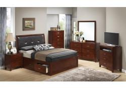 Storage Bed Solid Wood Cherry Bedroom Set G1200B
