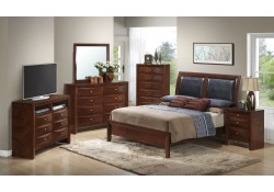 Solid Wood Transitional Cherry Bedroom Set G1550a