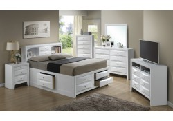Bookcase Storage Bed White Bedroom Set G1570G