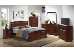 Low Profile Traditional Cherry Bedroom Set G3100C