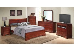 Cherry Finish Low Profile Bedroom Set G3100E Glory Furniture