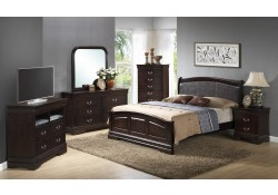 Solid Wood Dark Brown Bedroom Set G3125C Glory Furniture