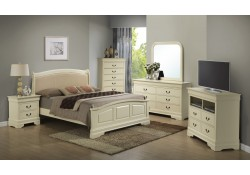 Beige Finish Wood Bedroom Set G3175C with Low Profile Bed