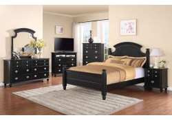 Black Solid Wood Poster Traditional Bedroom Set G5925A