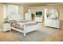 5 Piece Poster White Bedroom Set G5975A