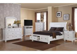 6 Piece White Storage Bedroom Set G7075A
