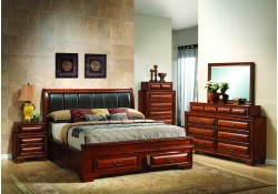 Cherry Solid Wood Traditional Storage Bedroom Set G8850B