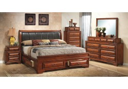 G8850C Solid Wood Bedroom Set with Storage Drawers