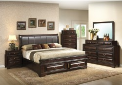 Walnut Solid Wood Traditional Storage Bedroom Set G8850B