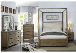 Garland Canopy Bedroom Set in Light Oak and Cream