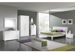 Geko Italian Bedroom Set in White Finish by MCS Italy