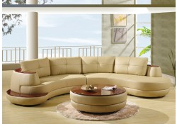 Global Furniture 918 Sectional Sofa in Cappuccino Leather