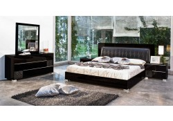Modern Black Gloss Grace Modrest Italian Bedroom Set