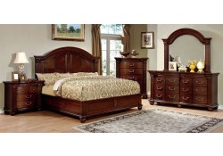 Grandom Traditional Bedroom Set in Cherry Finish