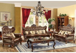 Jericho Traditional Living Room Set in Brown