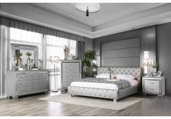 Juilliard Bedroom Set in Silver Finish