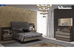 Leo Bedroom Set in Two Tone Finish Made in Spain