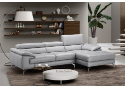 Liam Sectional Sofa in Grey Leather by J&M Furniture