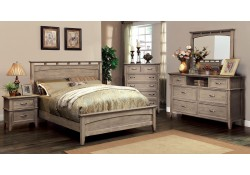 Loxley Panel Bedroom Set in Weathered Oak