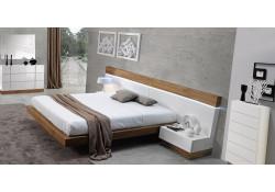 White Wood Madrid Modern Bedroom Set by J&M Furniture