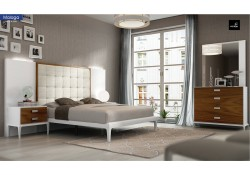 Malaga Bedroom Set in Two Tone Finish Brown and White
