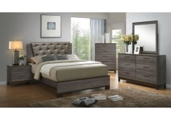 Manvel Bedroom Set in Antique Gray Finish