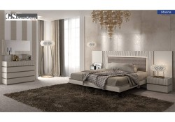 Marina Bedroom Set in Light Grey Finish Made in Spain