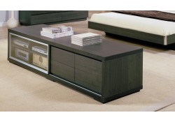 Modrest Capri TV Stand in Brown Finish Wood
