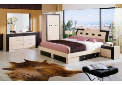 Concord Italian Bedroom Set in Two Tone Finish