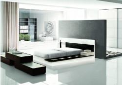 Modrest Impera Italian Bedroom Set in Two Tone Lacquer