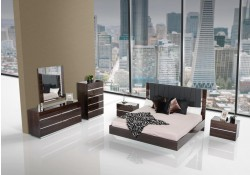 Modrest Luxor Italian Bedroom Set in Ebony Lacquer