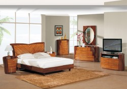 New York Kokuten Finish Bedroom Set by Global Furniture