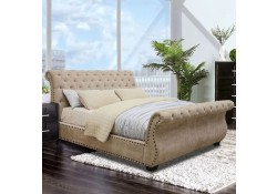 Noemi Sleigh Bedroom Set in Dark Brown and Mocha