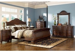 North Shore Sleigh Bedroom B553 by Ashley Signature Design