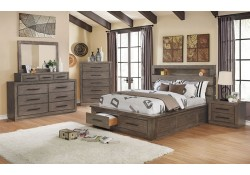 Oakburn Traditional Bedroom Set in Dark Gray