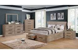 Oakes Bedroom Set in Light Gray