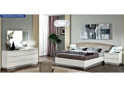 Onda Italian Bedroom Set in White Lacquer Finish