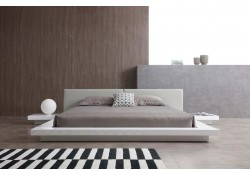 Opal Modern Platform Bed in White