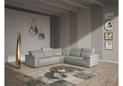 Estro Salotti Palinuro Reclining Sectional Sofa in Grey