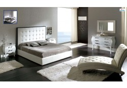 Penelope Bedroom Set in White Finish by Dupen Spain