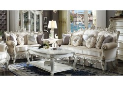 Picardy Living Room Set in Antique Pearl Finish