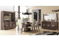 Prestige Italian Dining Room Set in Brown