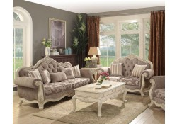 Ragenardus Living Room Set in Vintage Oak Fabric