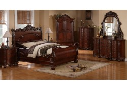 Regal Traditional Cherry Sleigh Bedroom Set