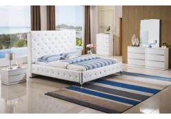 Rome White Modern Bedroom Set with White Bed