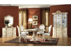 Rosella Cream Classic Italian Dining Room Furniture Set